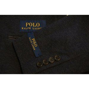 Polo Ralph Lauren Blue Herringbone Cotton jacket